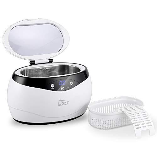 Uten Ultraschallreiniger Reinigungsgerät 650ml Digital Ultrasonic Cleaner Reiniger Edelstahl Ultraschallbad mit Uhrenhalter und Korb 42,000Hz 35W