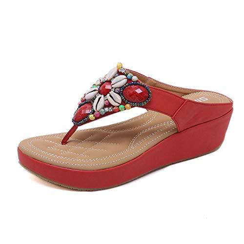 Minetom Scarpe con i Tacchi Alti Sandali Pantofole Donna,Scarpe con Piattaforma Floreale Sandali...