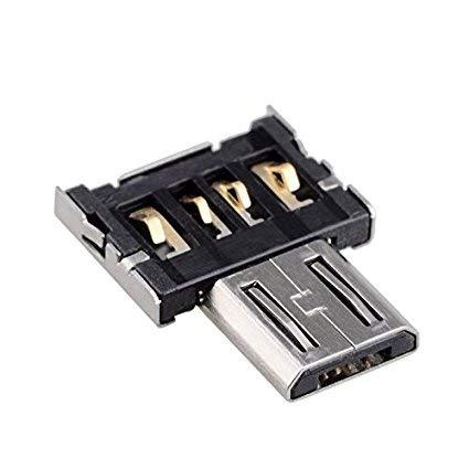 Adattatore Micro USB OTG (On-The-Go) ** Micro-USB B maschio a USB-A Femmina ** Estremamente piccolo...