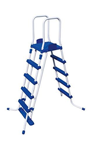 Bestway 58332 - Escalera para piscinas de 132 cm, con plataforma