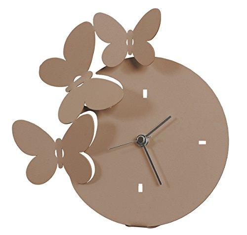 """ARTI MESTIERI E-Reloj de mesa, diseño de mariposas """""""