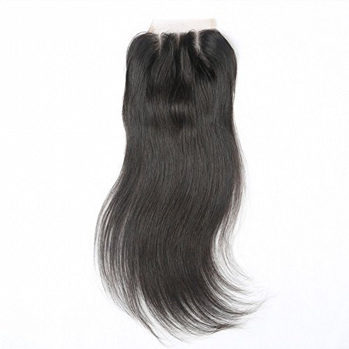 Beata Hair 3 Way Part Brazilian Lace Closure Straight Bleached Knots with Baby Hair 08inch