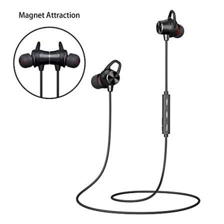 Auriculares-Inalmbricos-Bluetooth-Auriculares-Deportivos-Bluetooth-Magnticos-Estreo-Sonido-8H-Tiempo-de-Reproduccin-Sweatproof-IPX4-Siri-Soporte-Micrfono-Incorporado