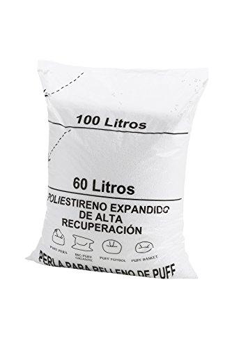 Textilhome - Riempimento Poltrona Sacco Puff (Perline) 100 Litri -Grande Recupero Polistirolo e Grande Volume.