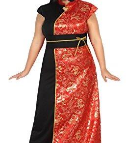 ATOSA disfraz china mujer adulto vestido rojo XL