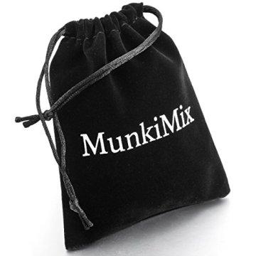 MunkiMix Acero Inoxidable Colgante Collar Egipcio Egipto Ankh Cruzar Cruz Hombre,Cadena 58cm 6