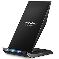 Kaufen Fast Wireless Charger, NANAMI Qi Ladegerät für iPhone XS/ XS Max/ XR , iPhone X / iPhone 8 Plus / iPhone 8, kabelloses Induktive Ladestation Schnellladestation für Samsung Galaxy Note 9 /Note 8 / S9/ S9 plus/ S8/ S8 plus/ S7 / S7 Edge/ S6 Edge Plus / Note 5 und alle Qi Fähige Geräte (aktualisierte Version)