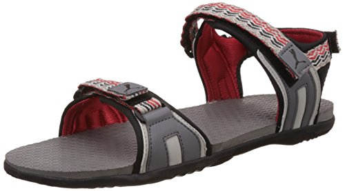 Puma Men's ZoomDP Steel Grey, Grey Violet and High Risk Red Sandals and Floaters - 6 UK/India (39 EU)