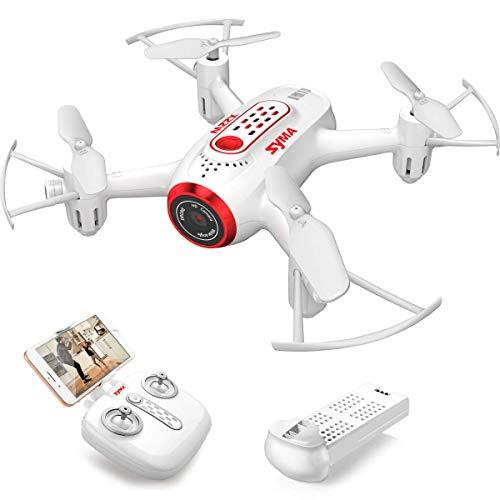 Kaiaki Drone X22W con videocamera Live Video FPV Nano Pocket Mini Drone per Bambini e Principianti, RC Quadcopter con Controllo App, Attesa in altitudine, 3D Flip, modalità Senza Testa,White