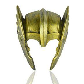 ZYER Máscara de Halloween Thor Casco de Ragnarök Thor, Disfraz de Cosplay Accesorios de Disfraces de Cosplay Máscara de Fiesta de Disfraces