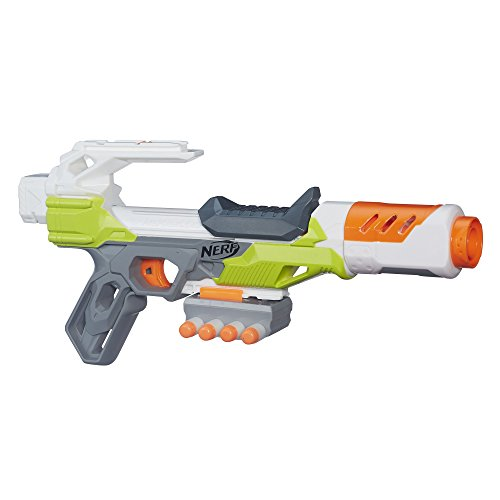 Nerf Modulus IonFire Blaster -- Customize with Included Barrel Extension and Dart Storage -- Comes with 4 Official Nerf Modulus Elite Darts