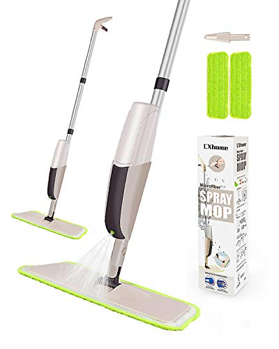 CXhome Lavapavimenti Per Pulizia dei Pavimenti, Spray Mop con 2 waschbaren Bodenwischer ersatzbezug...
