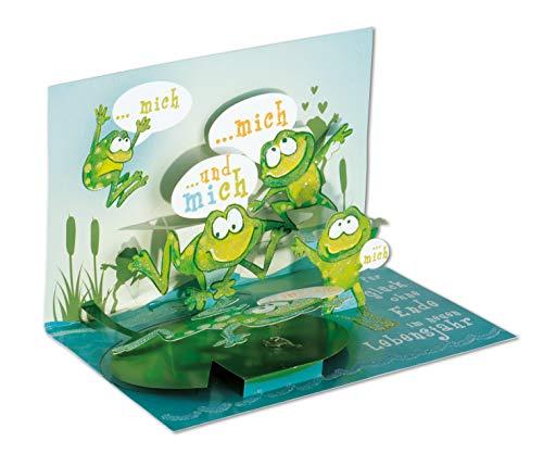 3D Pop - UP Karte Geburtstag, Frosch, Geburtstagskarte 3D, POP - UP Karten, POP UP Karten Geburtstag, Geburtstagskarte lustig, Motiv: Frosch