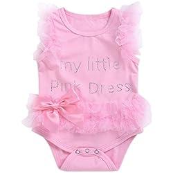 Baby Girl Romper New Born Kids Dresses Mono Traje Vestido Ropa Traje