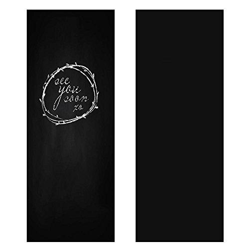 Yaheetech Lavagna Cancellabile Adesiva Nera per Muro Mobili con Gessetti 60 x 200 cm