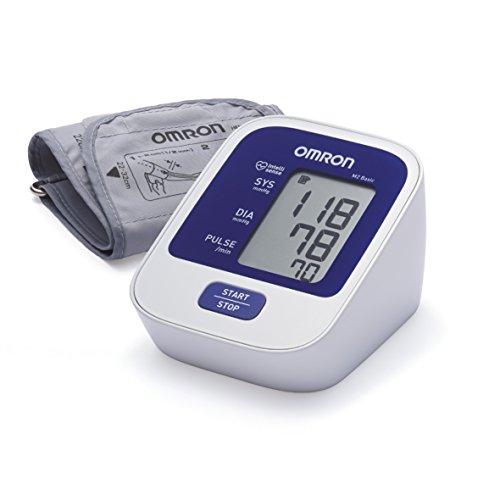 OMRON M2 Basic Misuratore di Pressione da Braccio Digitale, Tecnologia Intellisense per una...