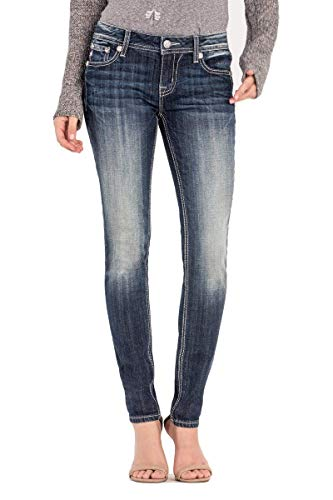 Miss Me - Frauen M3228S Jeans Mid-Rise Skinny Jeans, 30, Denim