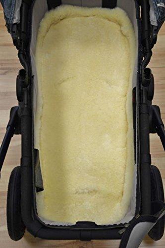 In vello d' agnello per passeggino/seggiolino auto 80x 40cm vera vello di pecora medico o anche come rivestimento per sedia a rotelle