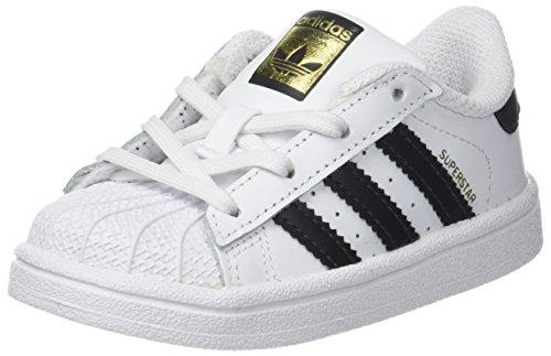 adidas Superstar I I, Scarpe da Fitness Unisex-Bambini, Bianco (Footwear White/Core Black), 25 EU