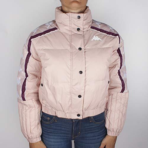 Kappa Giubbotto Donna Rosa Bomber a Collo Alto Stampa Logo e Bande Laterali 3031UJ0926 M