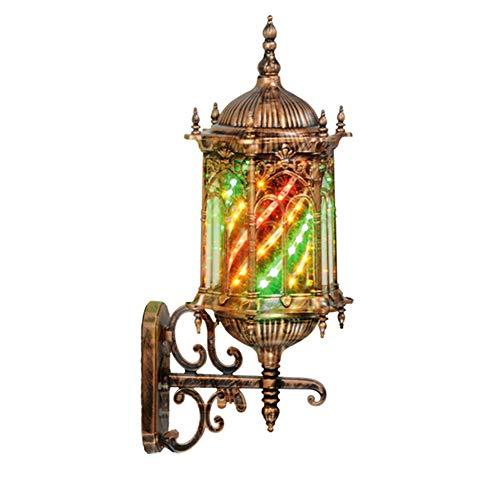 Palo per barbiere da 20'a LED, parrucchiere in stile classico, negozio aperto per barbiere, strisce LED rotanti colorate Lampada da palazzo romana IP44 impermeabile (a forma di fiore),E