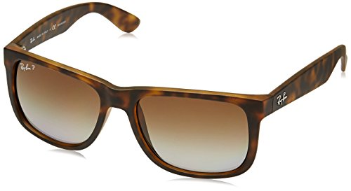 Ray-Ban Gradient Rectangular Men's Sunglasses - (0RB4165865/T555|54|Polar Brown Gradient Color)