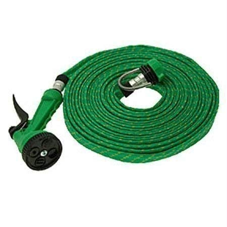 Aditya Info 10 Meter Flat Hose Water Gun Spray Garden Pet Car Washing Jet Spray Gun Wash
