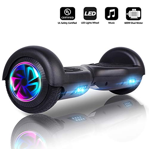 Jolege Hoverboard 6.5' Self Balance Scooter Elettrico con LED, 2 * 300W Motore, Monopattino...