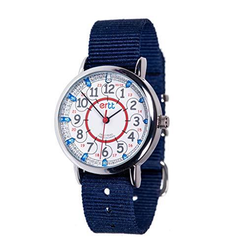Easyread Time Teacher erw-rb-24orologio 12-24Grey strap, Navy Blue, 1