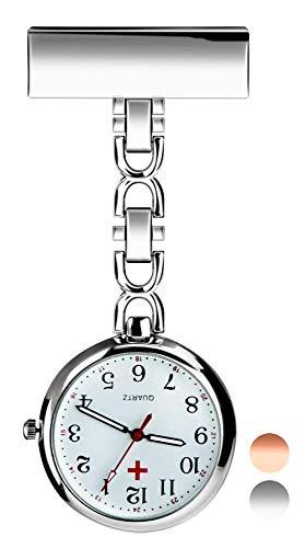 Orologio da taschino per infermieri con spilla da bavero Orologi da tasca impermeabile ideale per...