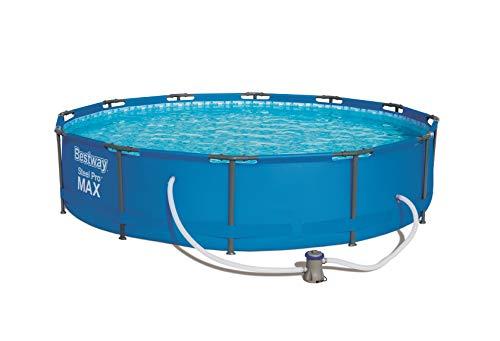 Bestway Frame Pool Steel Pro, Set mit Filterpumpe, 366 x 76 cm, blau