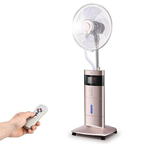 ZHIRONG Spray-Befeuchtungs-elektrischer Ventilator mit Fernbedienung Addieren Sie Wasser-kühlen hinunter Gast-Restaurant-Industrie-oszillierenden Ventilator 80W ab ( Farbe : Rose gold )
