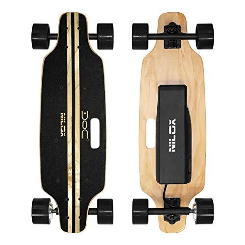 Nilox Doc Skateboard Elettrico, E-skate con Telecomando di Controllo, velocità max 12 km/h,...