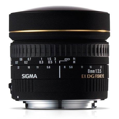 Sigma EX objetivo ojo de pez - 8 mm