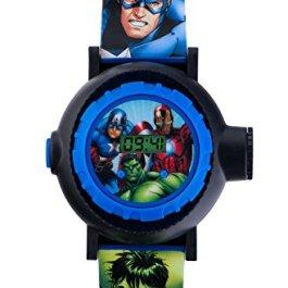 Avengers bambini orologio digitale con display digitale multicolore e cinturino in similpelle blu AVG3536