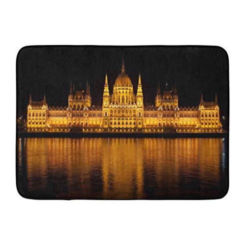 Kinhevao Tappetino da Bagno Ungherese Budapest Ungheria Parlamento Notte Europa Danube Travel City...