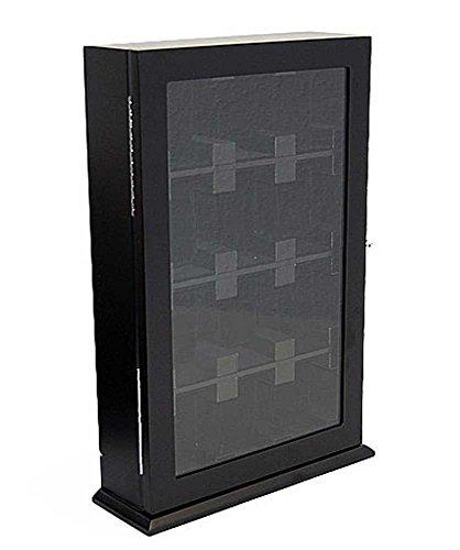 Orig. Meyer & Söhne Uhrenvitrine Wand -Tischvitrine für 12 Uhren schwarz