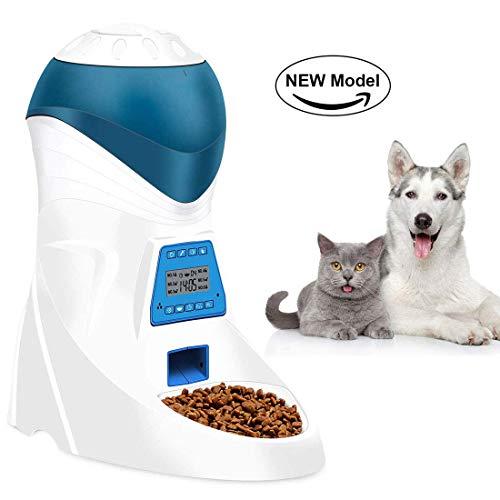Jnwayb JW26 Futterautomat, Automatischer Futterspender mit akustischer Benachrichtigung und Timer Funktion, 6 Mahlzeiten für Hunde (Mittel und Klein) und Katzen