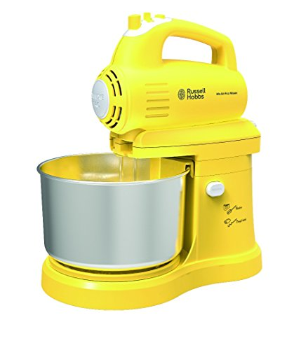 Russell Hobbs England Rhm400 400-Watts 3 Liter Stainless Steel Bowl 5-Speed Swivel Movement, Turntable Stand Mixer (Yellow)
