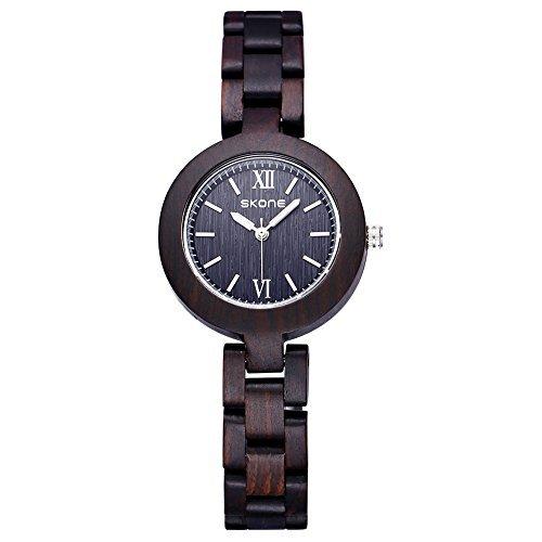 Astarsport orologio in legno lavorato a mano da legno orologio piccolo quadrante semplice orologio...