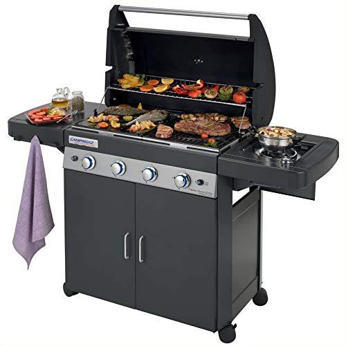Campingaz Barbecue Gas 4 Series Classic LS Plus Dark DG Dual Gas Metano/Gpl, Grill Barbecue con 4...