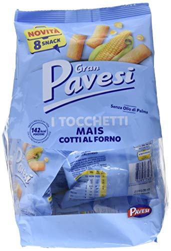 Gran Pavesi Snack Tocchetti, Snack di Mais Cotti al Forno - 8 Pacchetti (256 gr)
