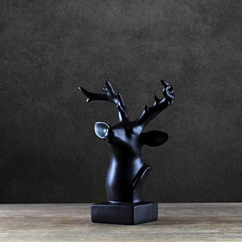 Soprammobili Sculture Decorative Statua Nordic Moderna Testa di Cervo Ornamenti Soggiorno Mobile TV...