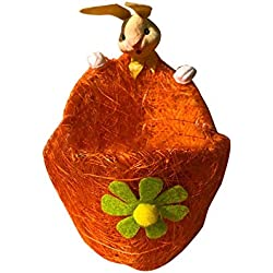 Las Decoraciones Hechas A Mano de La Cesta Del Huevo Del Conejito de Diy, Se Pueden Utilizar para Recolectar Los Huevos para Pascua, Boca Baja Ancha 6cm, Boca Superior 9cm, Boca Larga 14cm