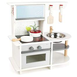 11159 Cucina da gioco minuta per bambini small foot con forno, tegame, pentola, pentola, utensili da