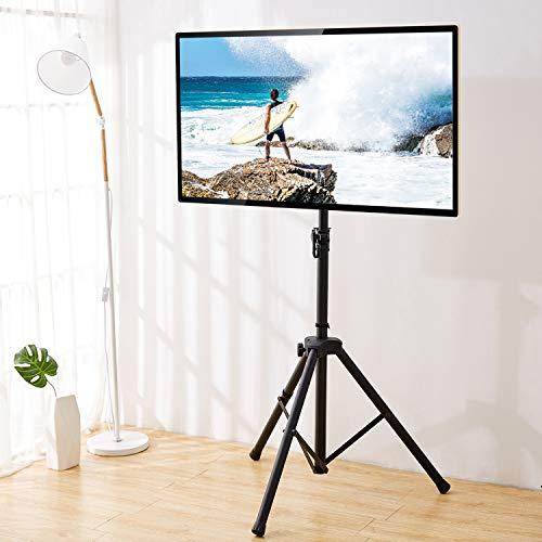 RFIVER Mobili TV Treppiede Schermo Piatto Portatile Pieghevole Supporto per Monitor Girevole e...