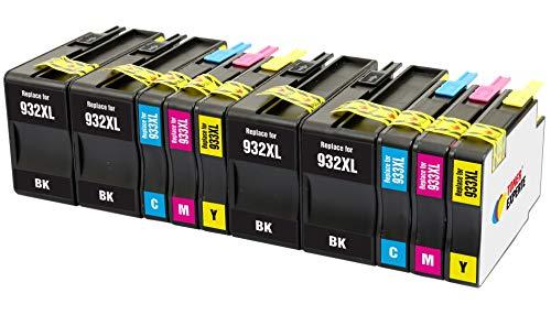 TONER EXPERTE 10 XL Cartucce d'inchiostro compatibili con HP 932 932XL 933 933XL per Stampanti HP...