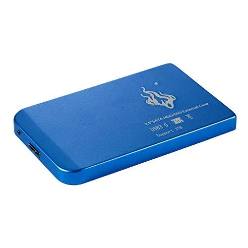 non-brand Portatile Disco Rigido Esterno HDD/SSD di USB 3.0, 500GB / 1T / 2T - Blu 2T