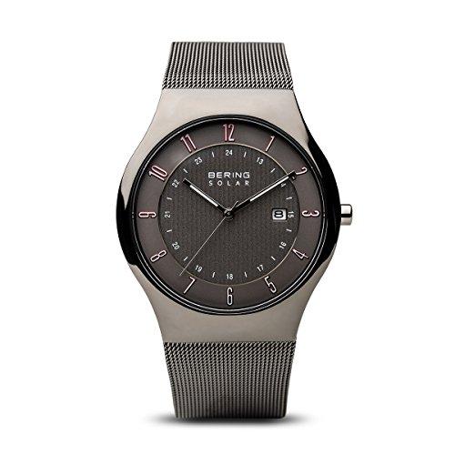 BERING Herren-Armbanduhr Analog Solar Edelstahl 14640-077