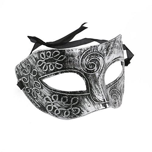 TINKSKY Maskerade Gesicht Maske Männer Roman für Kostüm Ball Halloween Silber